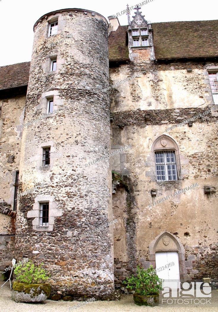 Stock Photo: Chateau de Boussac, Creuse, Nouvelle-Aquitaine.