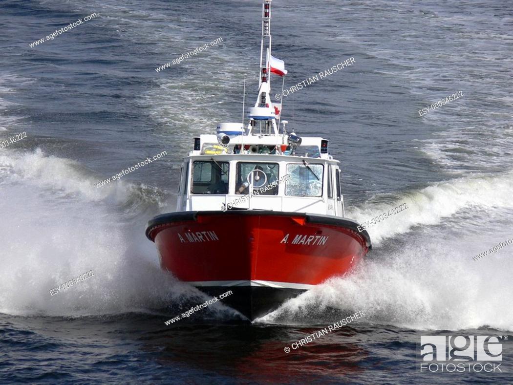 Stock Photo: Motorboot.