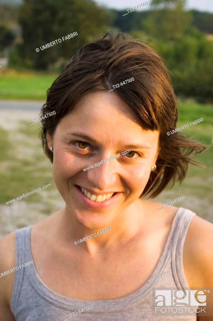 Stock Photo: A smiling girl face.