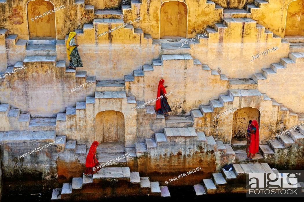 Stock Photo: India, Rajasthan, Jaipur the Pink city, water tank for rain near Jaipur.