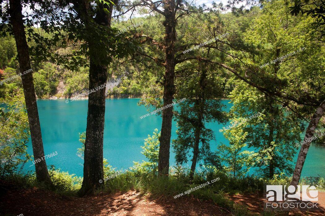 Stock Photo: Lagunas de Montebello National Park, Chiapas, Mexico.