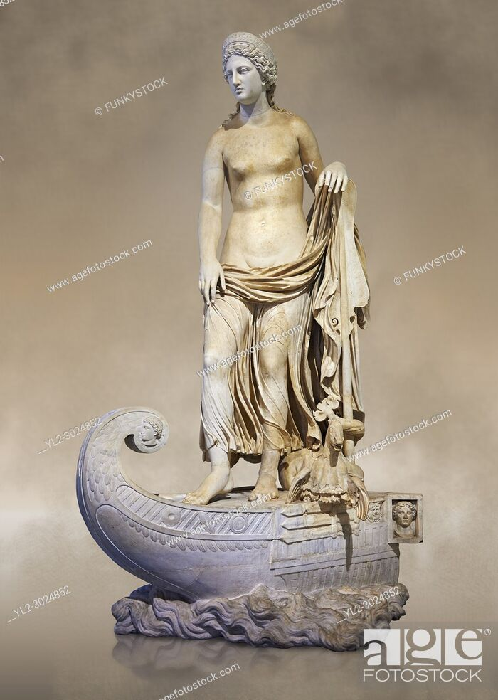 Stock Photo: Statue of Thetsis - a 2nd century AD Roman statue found in the city of Lavinia, Italy. Thetis (/Ë. θɛtɪs/; Ancient Greek: Î.