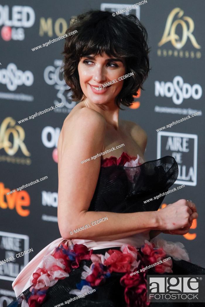 Stock Photo: Paz Vega attends the Spanish Cinema awards Goya 33rd edition at FIBE attends 33rd Goya Cinema Awards 2019 at Palacio de Congresos y Exposiciones FIBES on.