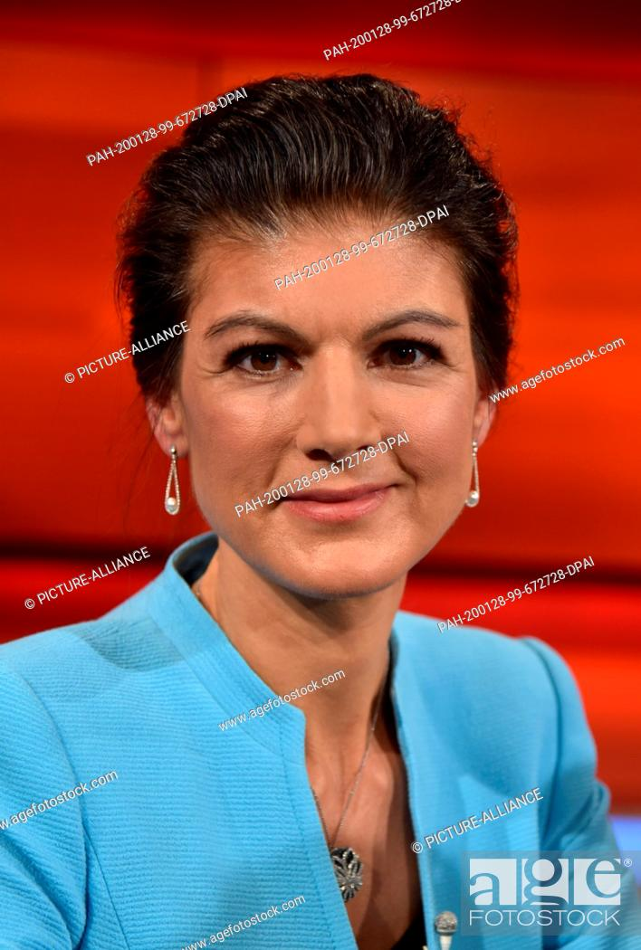 Stock Photo: 27 January 2020, North Rhine-Westphalia, Cologne: The politician Sahra Wagenknecht, DIE LINKE, Member of the Bundestag; former parliamentary party leader guest.