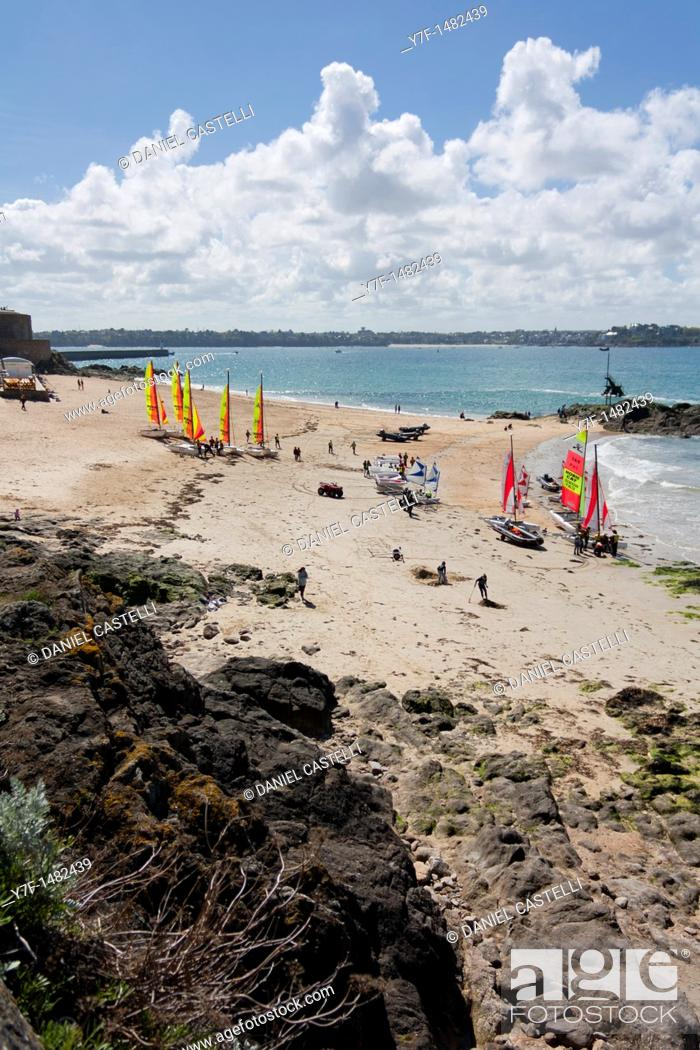 Stock Photo: Saint Malo, Brittany, France, Sailing school.