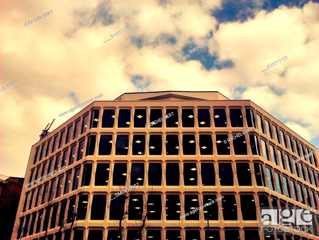 Stock Photo: Office bulding, Barcelona.