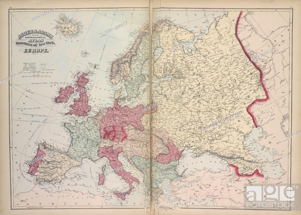 Europe. Asher & Adams (Publisher). Atlases of the United ...