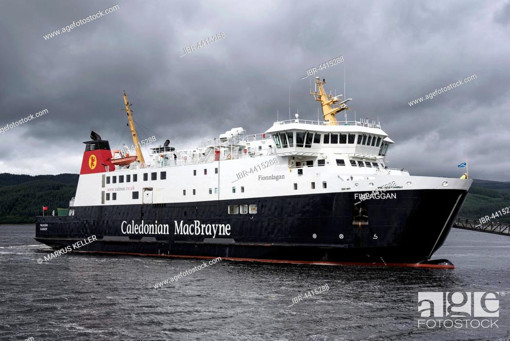 Stock Photo: The Ferry Finlaggan, Ferry between Scotland and the Isle of Islay, Tarbert, Argyll and Bute, Scotland, United Kingdom.