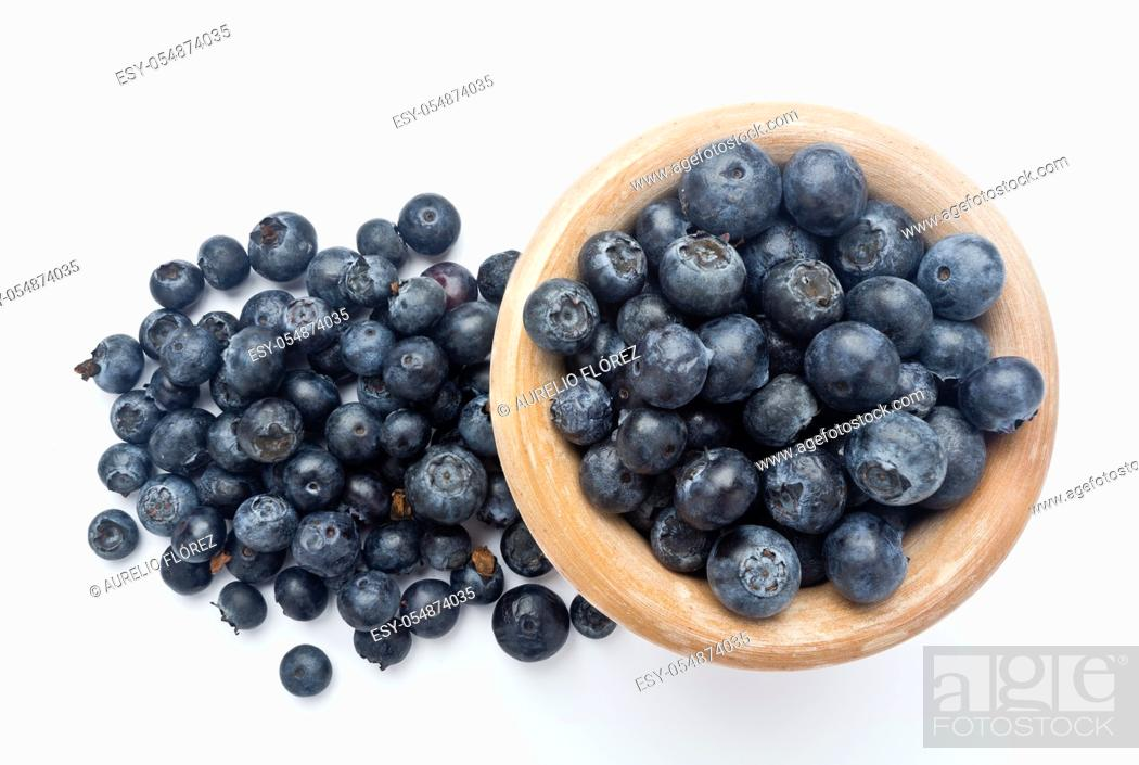 Stock Photo: Black cranberry (Vaccinium uliginosum) is native to temperate regions of the northern hemisphere, low in the Arctic, and at high altitudes south of the Pyrenees.