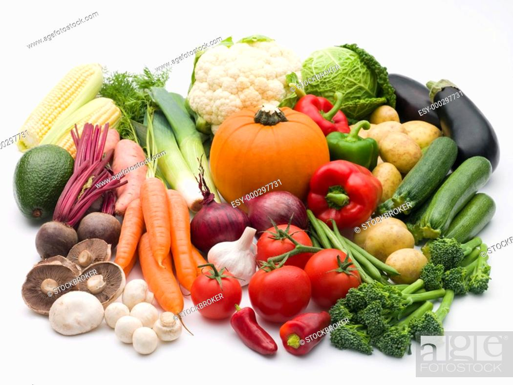 Stock Photo: Selection Of Fresh Vegetables.