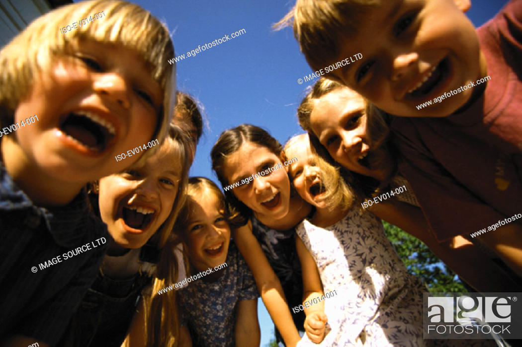 Stock Photo: Group of kids.