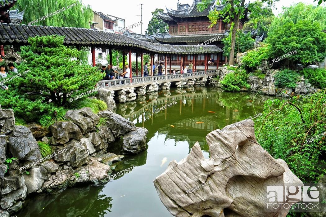 Yuyuan or Yu Garden Jade Garden Old Town Shanghai China, Stock Photo ...