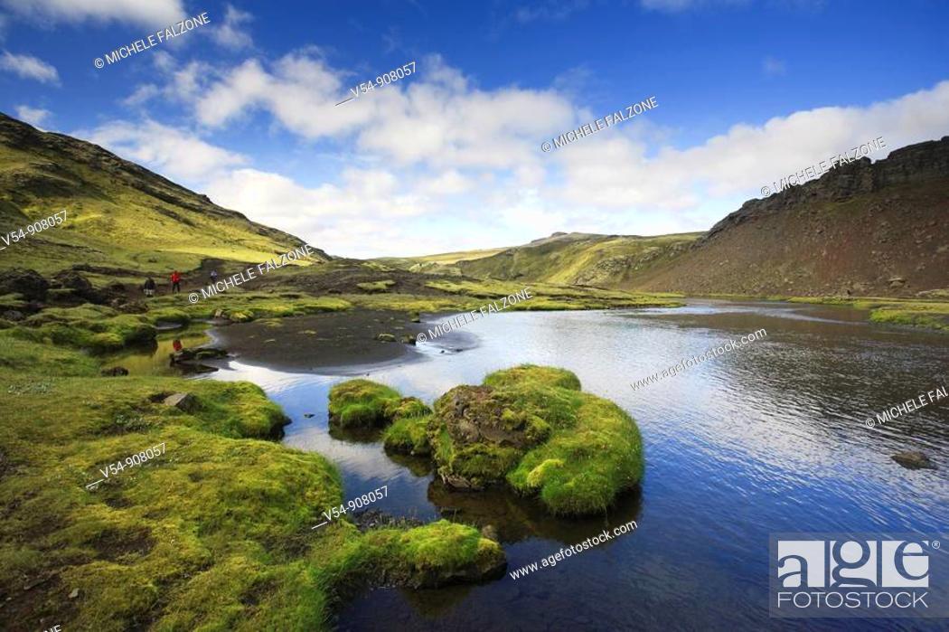 Stock Photo: Eldgja, Iceland.