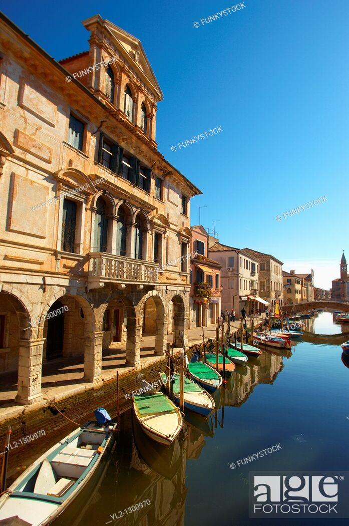 Stock Photo: Palazzo Mascheroni Lisatti - Riva Vena - Chiggia - Venice Italy.