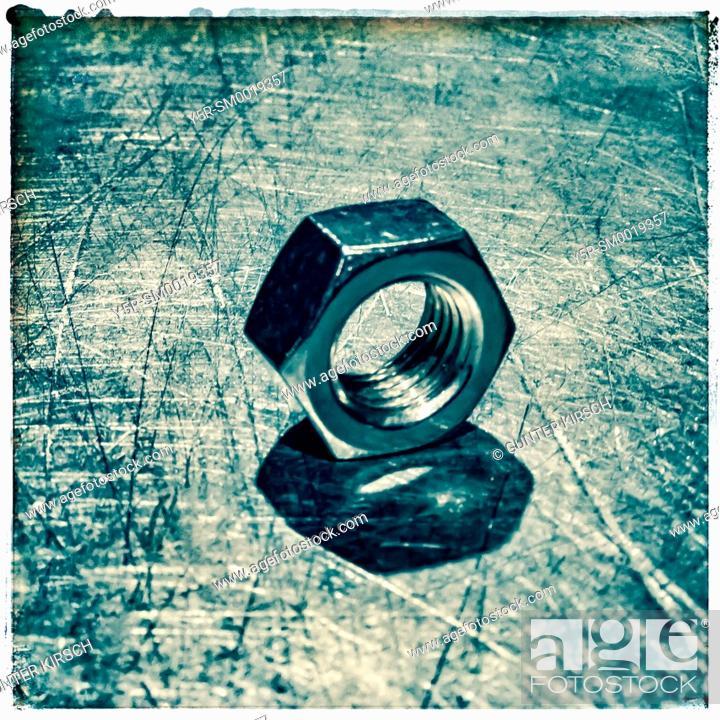 Stock Photo: One screw nut.