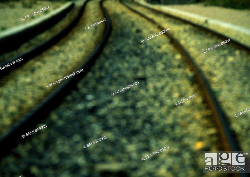 Stock Photo: Train tracks.