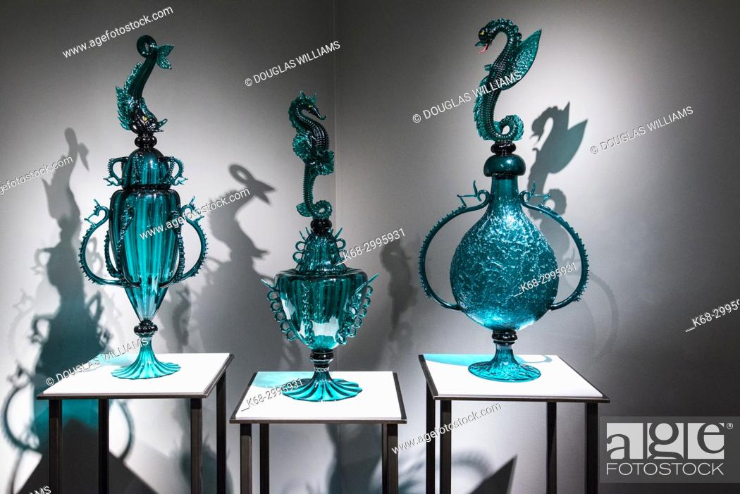 Stock Photo: glass art at the Museum of Glass, Tacoma, Washington, USA.
