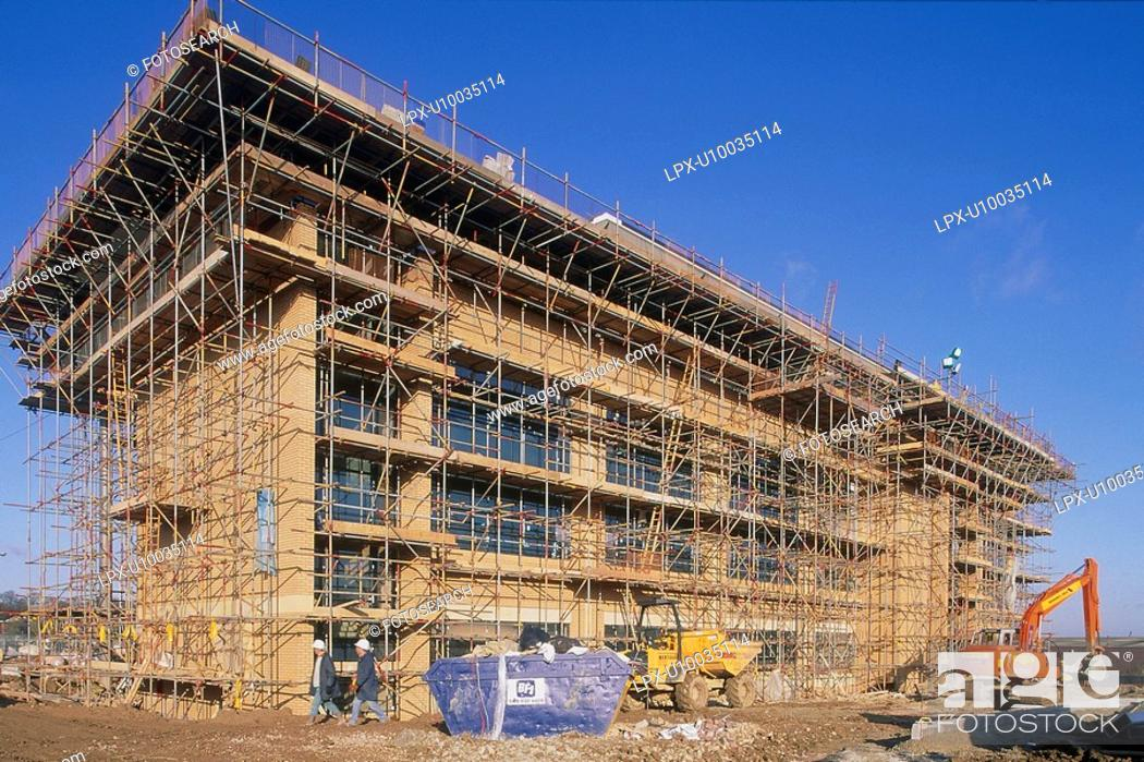 Stock Photo: office block under construction.