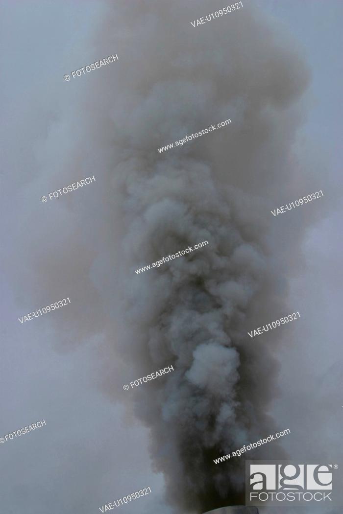 Stock Photo: silo, pollute, acid, rain, environmental, polluting.