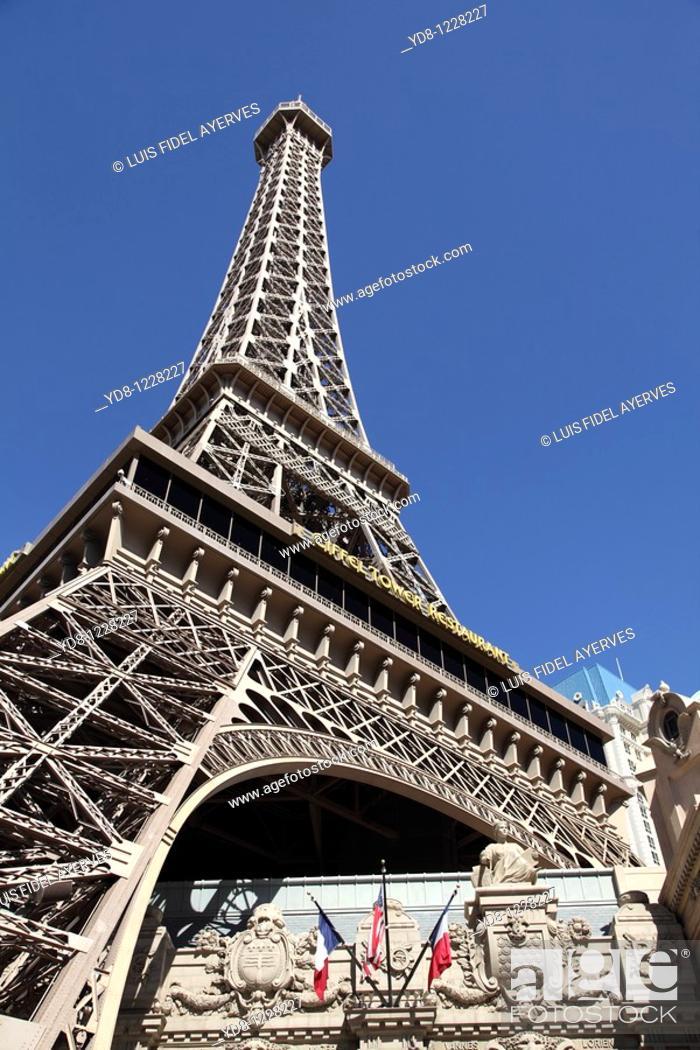 Stock Photo: Paris Hotel, Las Vegas, Nevada, USA.