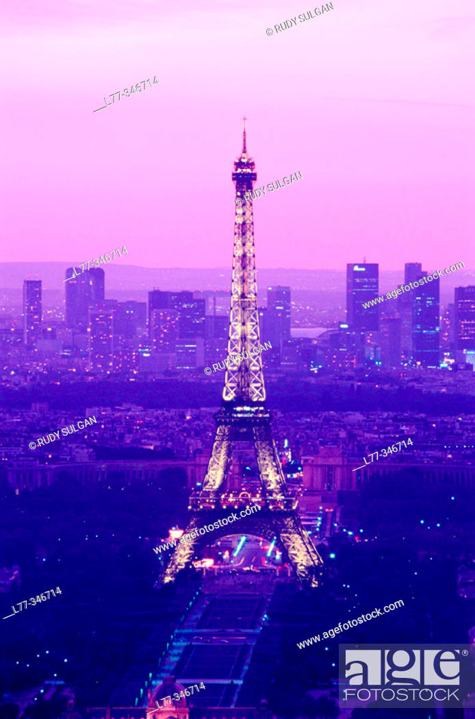 Stock Photo: Eiffel Tower. Paris, France.