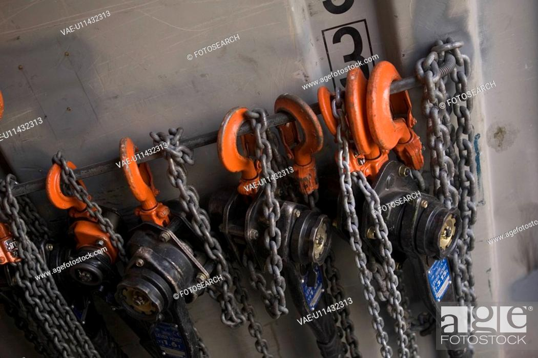 Stock Photo: Chain, Close-Up, Day, Group Of Objects, Hanging.