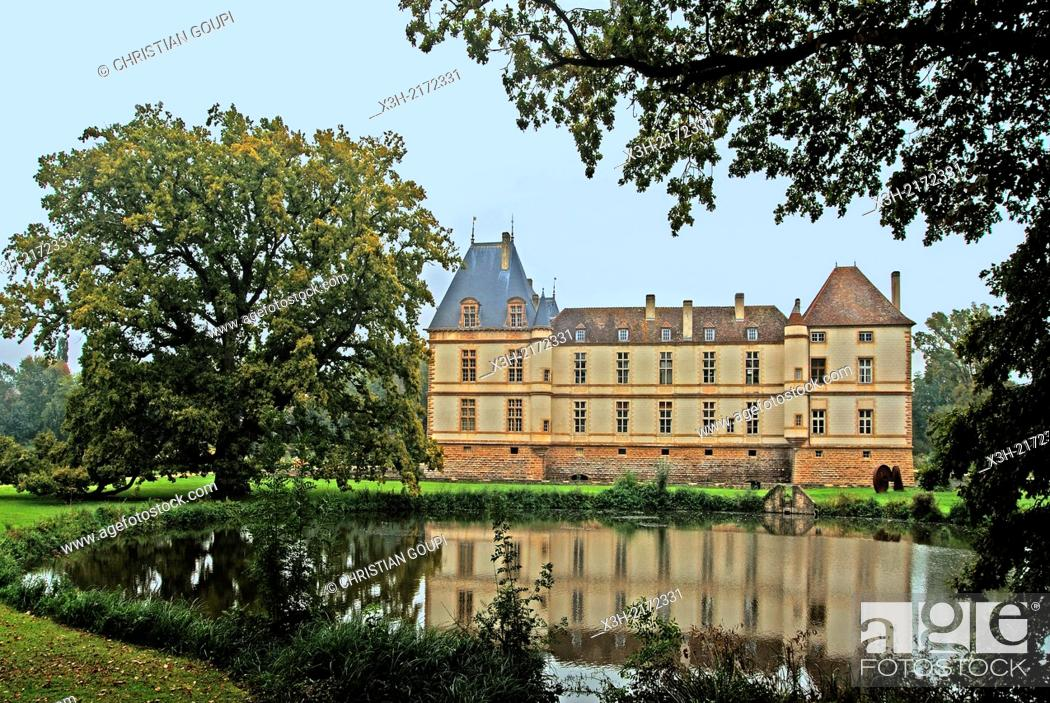 Stock Photo: Castle of Cormatin, Saone et Loire department, Burgundy region, France, Europe.
