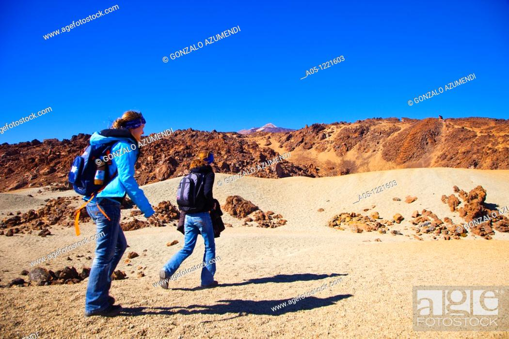 Stock Photo: Teide National Park. Tenerife. Canary Islands. Spain.