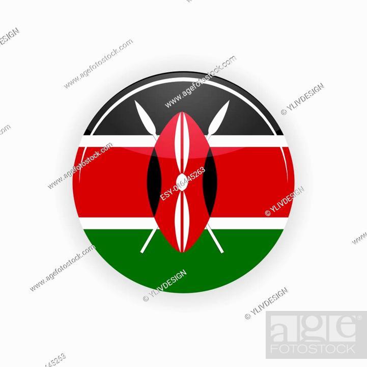 Imagen: Kenya icon circle isolated on white background. Nairobi icon illustration.
