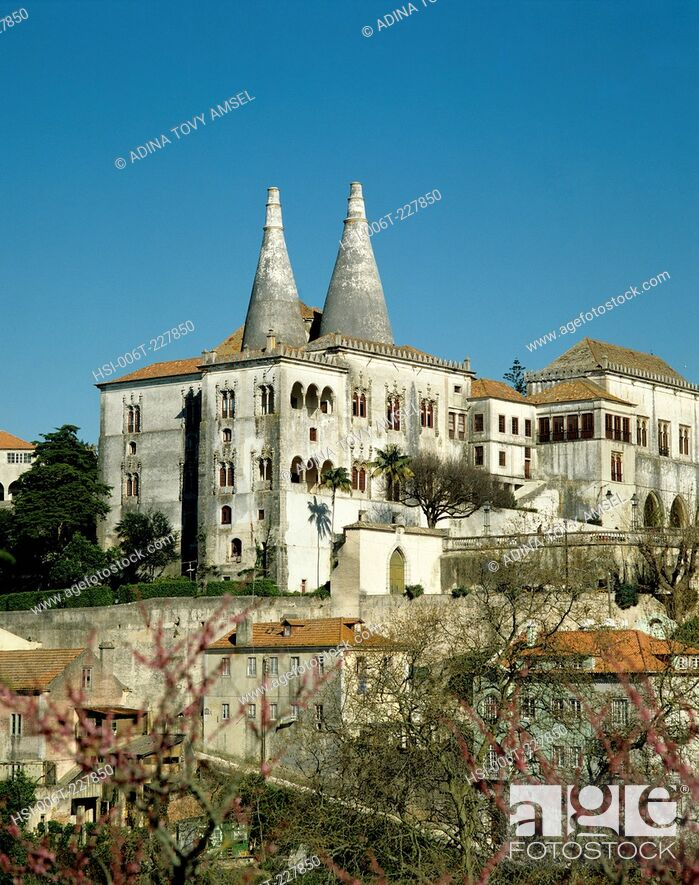 Stock Photo: Portugal. Sintra. National Palace.