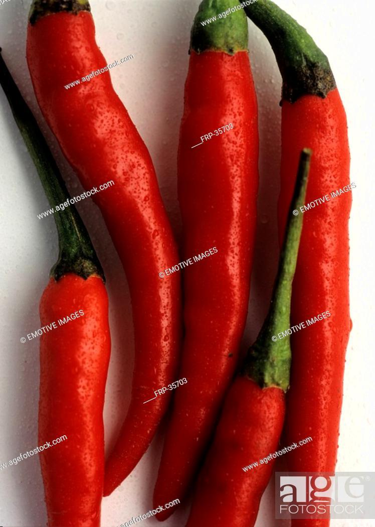 Stock Photo: Red peperonies.