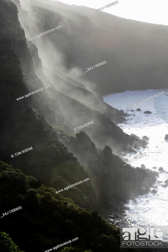 Stock Photo: west coast on La Palma. Canary Islands, Spain.