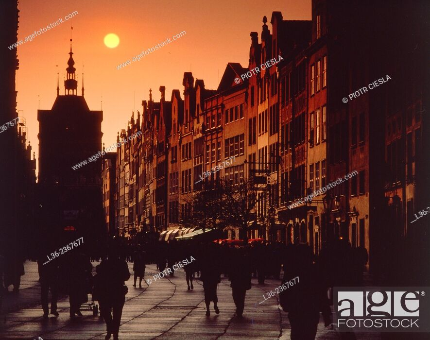 Stock Photo: Poland. Gdansk Old Town. Dluga (Long) street.