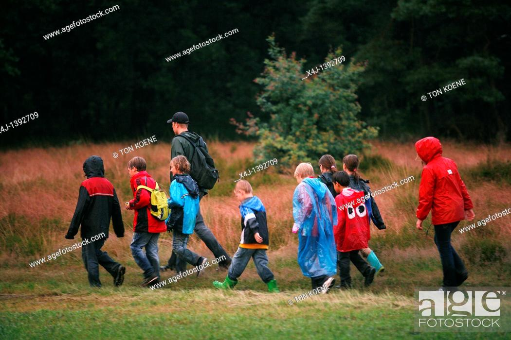 Stock Photo: summercamp in The Netherlands.