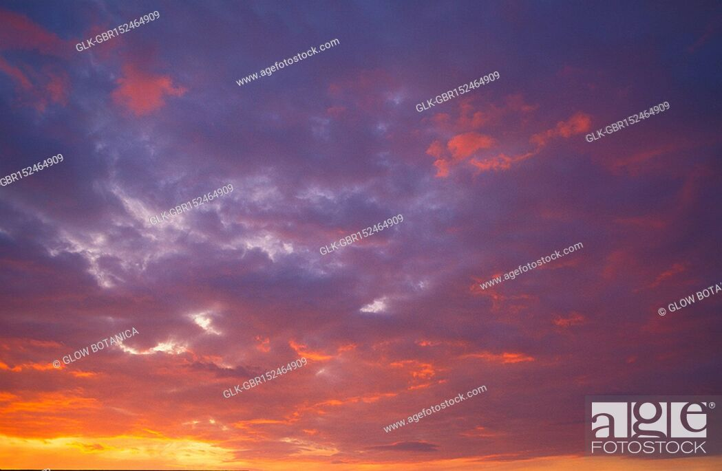 Stock Photo: Clouds in the sky at sunset.
