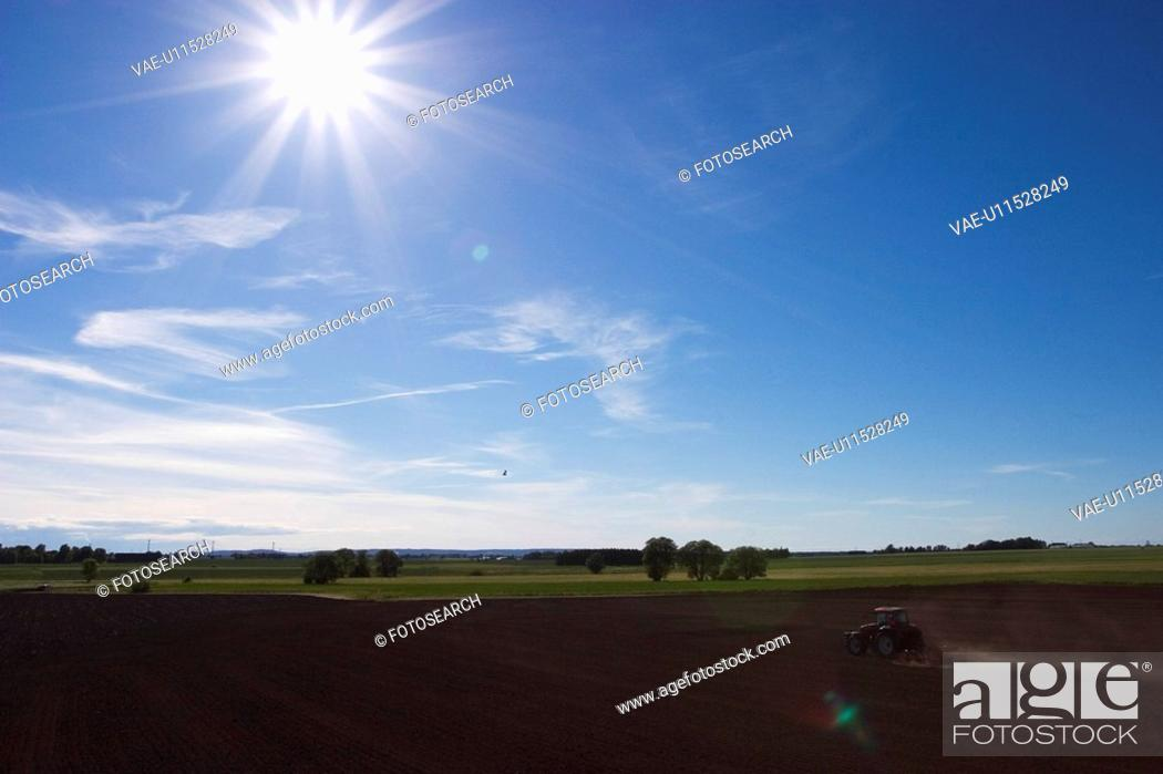 Stock Photo: Blue Sky, Clouds, Cultivation, Day, Farming.