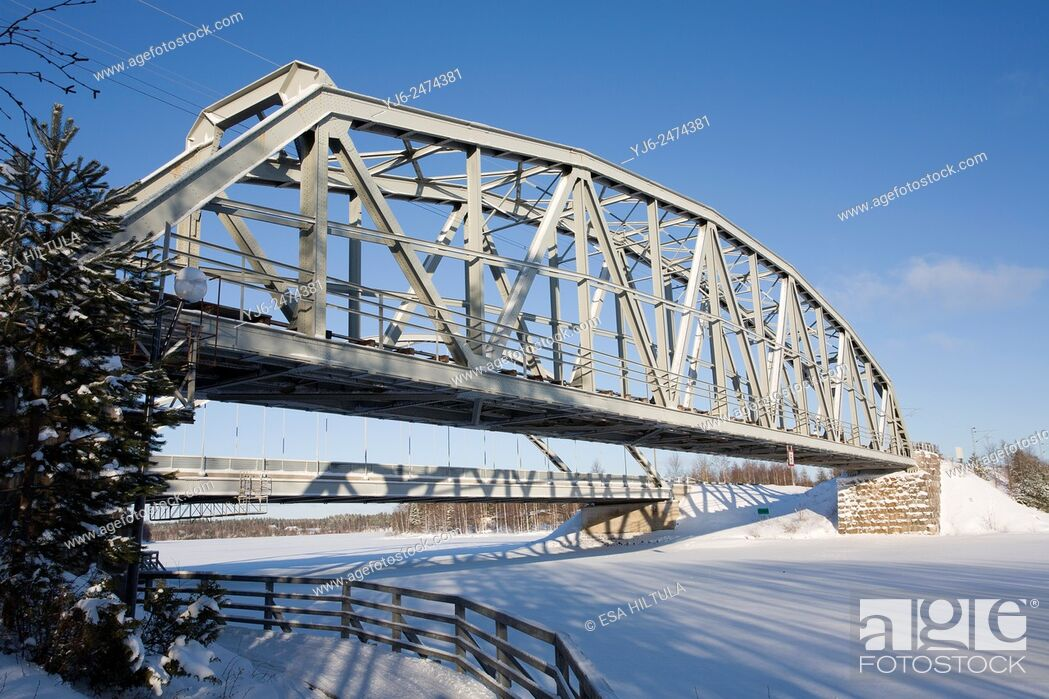 Stock Photo: bridge, Paltamo Finland.