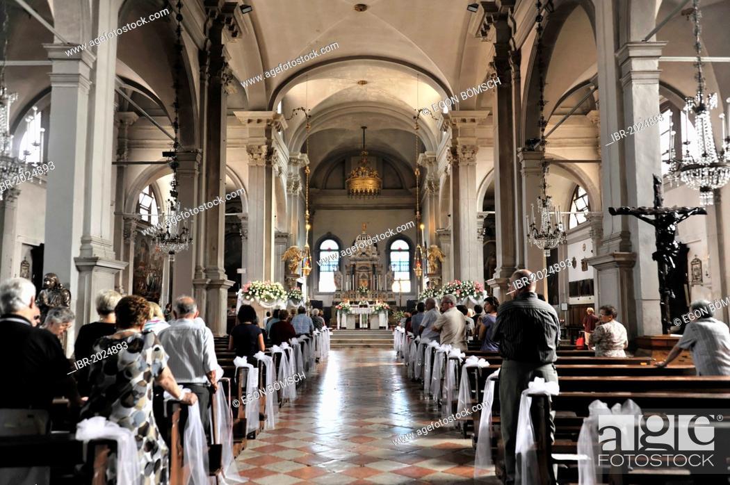 Nave And Altar Area Church Of San Martino Vescovo 16th Century Burano Venice Veneto Region Stock Photo Picture And Rights Managed Image Pic Ibr 2024893 Agefotostock