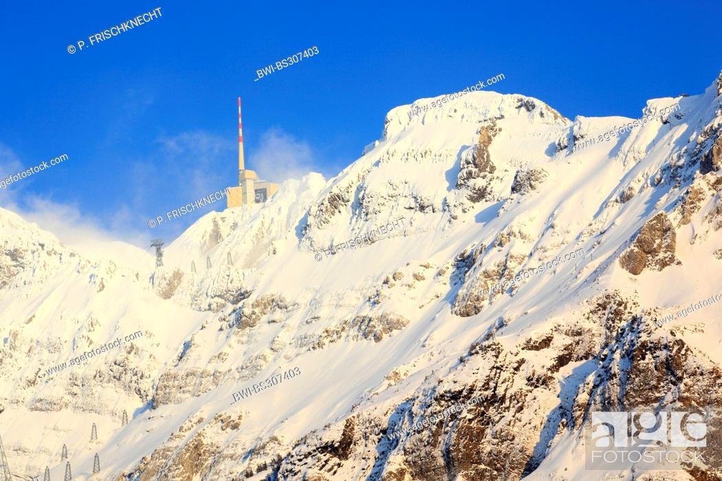 Alpstein Massif And Saentis In Winter Switzerland