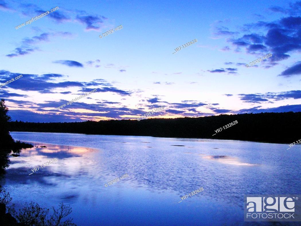 Stock Photo: Tobyhanna Lake, Pennsylvania.