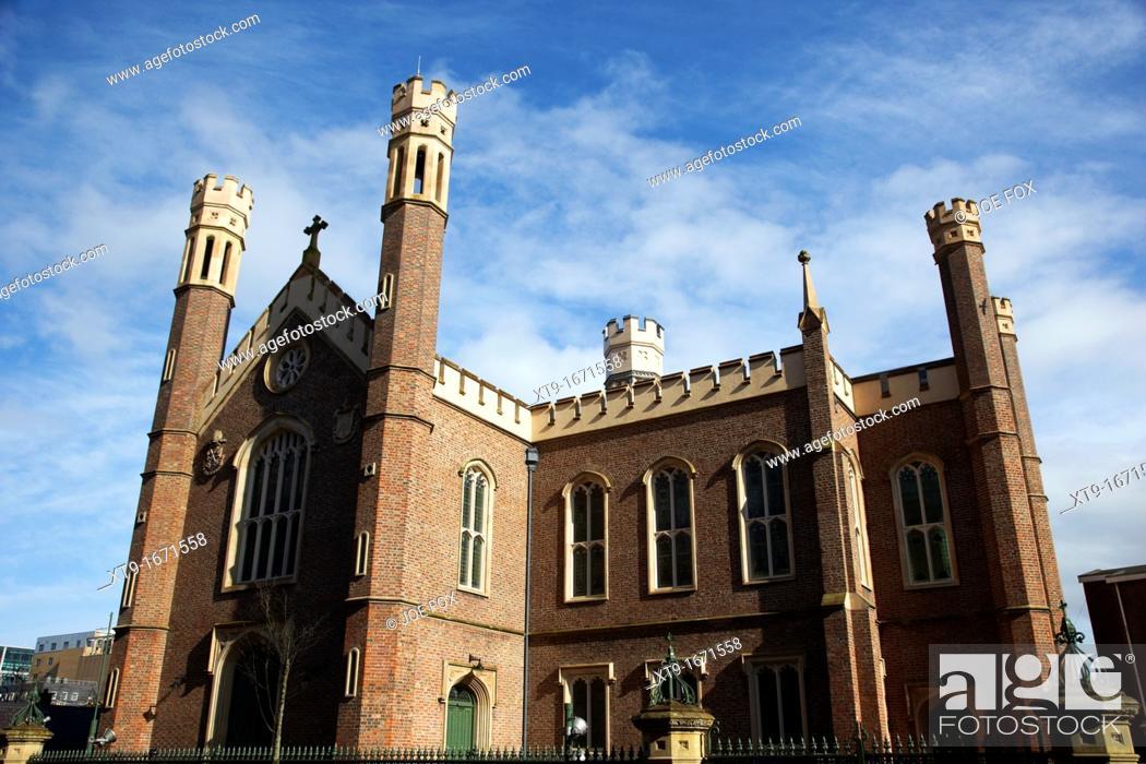 Stock Photo: St Malachy's catholic Church alfred street Belfast Northern Ireland UK.