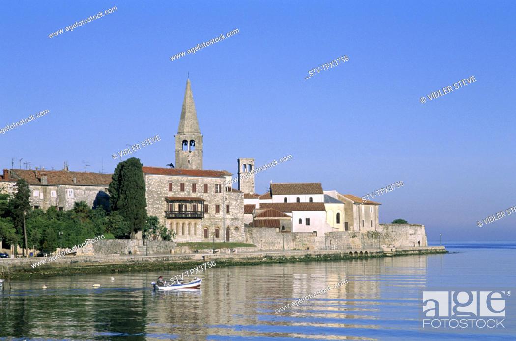 Stock Photo: Croatia, Europe, Harbour, Holiday, Istria, Landmark, Porec, Region, Skyline, Tourism, Town, Travel, Vacation,.