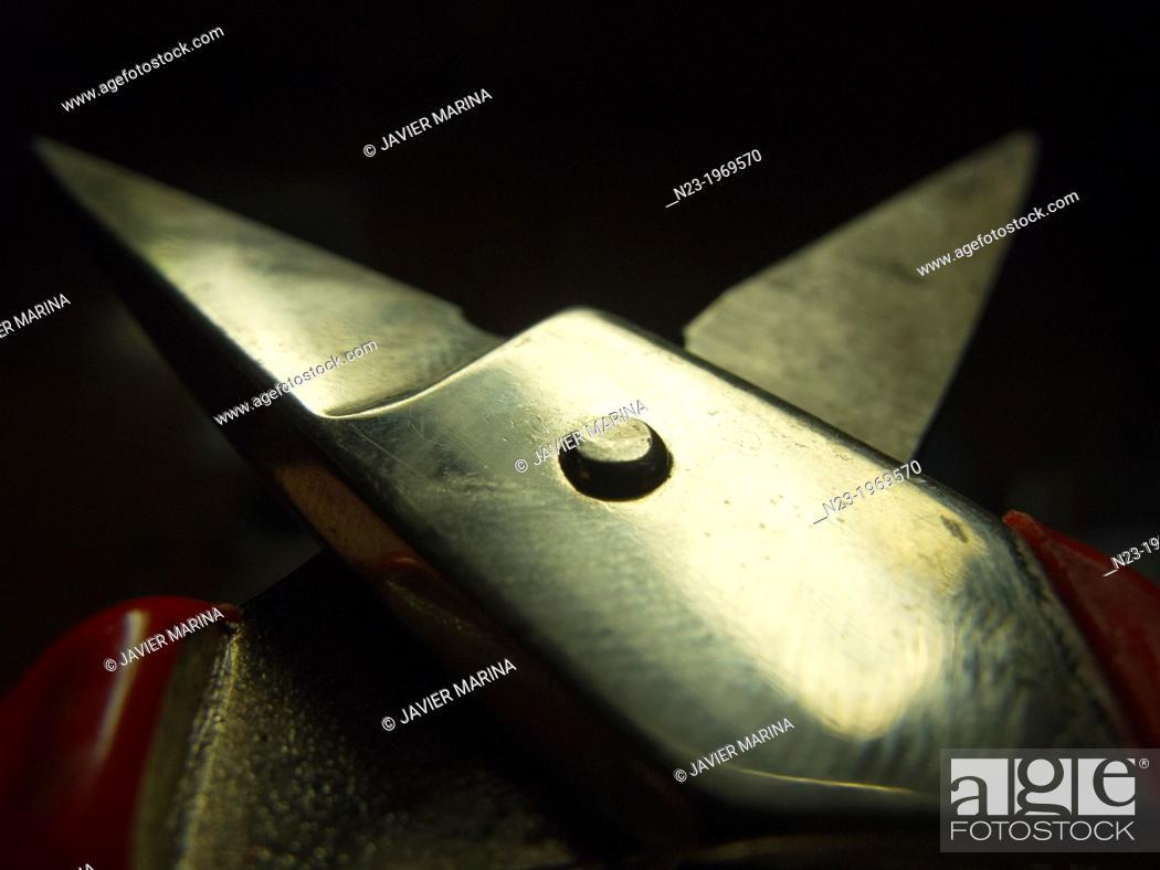 Stock Photo: Scissors, Valencia, Spain.