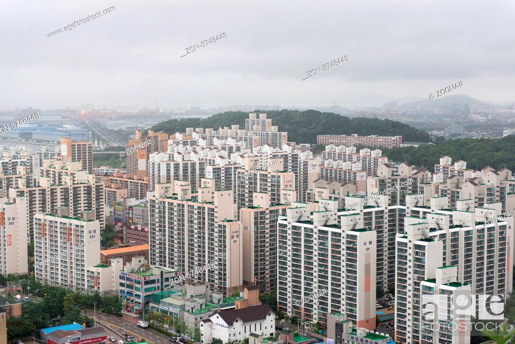 Stock Photo Typical Apartment Housing In Incheon South Korea