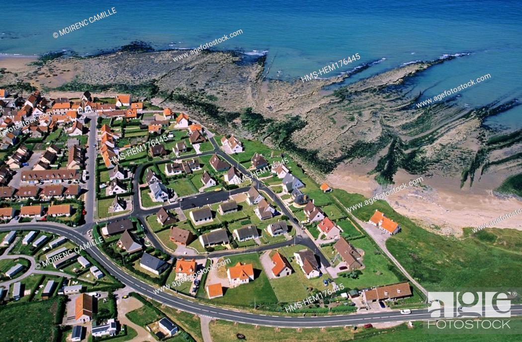 Stock Photo: France, Pas de Calais, Cap Gris Nez, Audresselles aerial view.