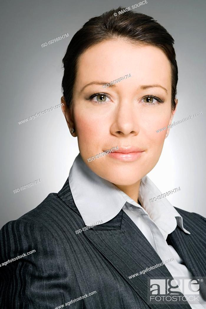 Stock Photo: Portrait of a female businesswoman.