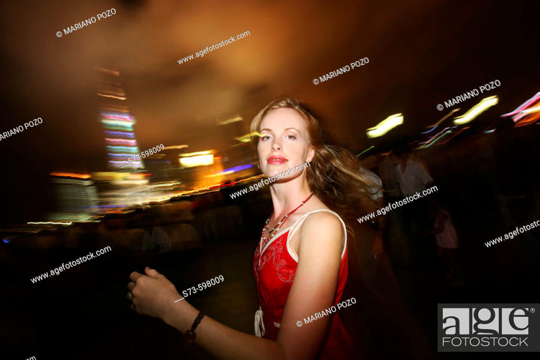 Stock Photo: 27 year old woman. Shanghai. China.