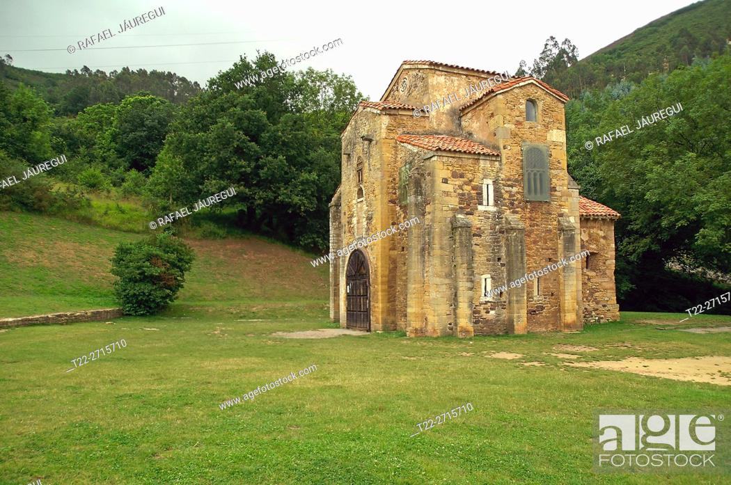 Stock Photo: Oviedo (Spain). Romanesque church of San Miguel de Lillo on the outskirts of the city of Oviedo.