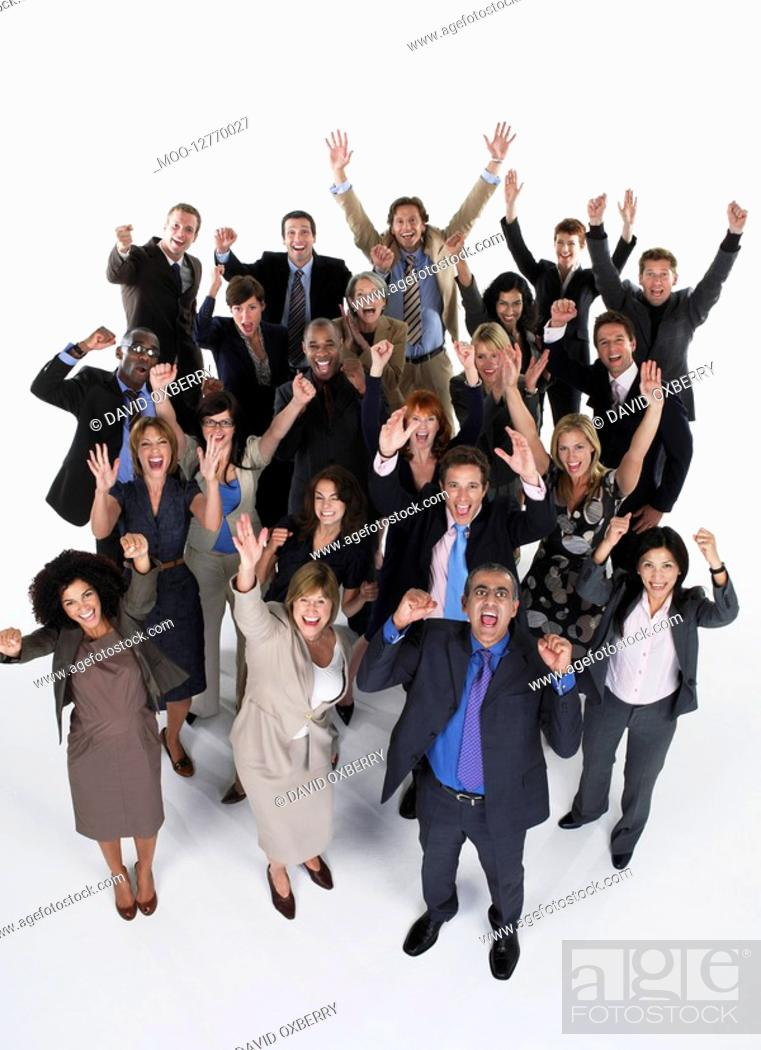 Stock Photo: Group of businesspeople.