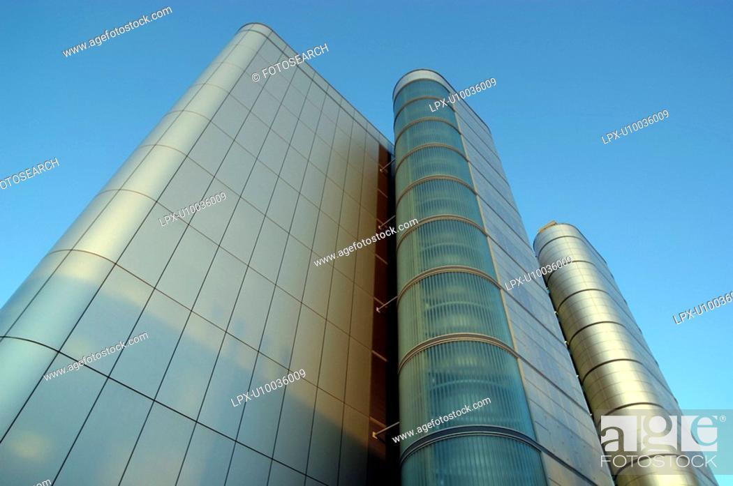 Stock Photo: Modern office building.